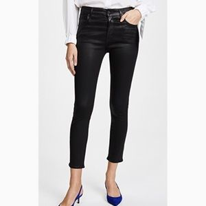 AGOLDE Sophie High Rise Skinny Crop Coated Jeans